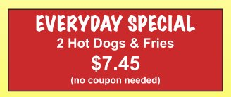 scoobys redhots everyday specials 2020